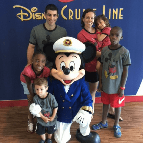Meeting Captain Mickey on Disney cruise