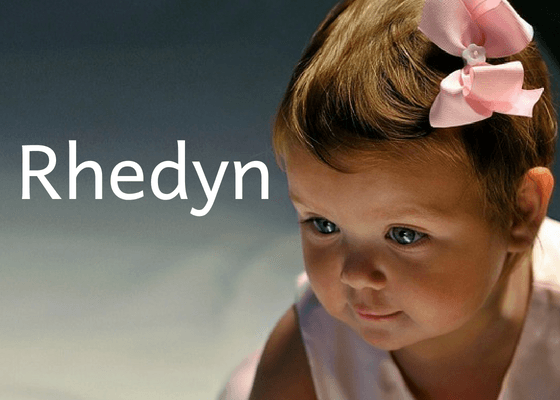 Welsh Girls Names with cute baby girl named Rhedyn
