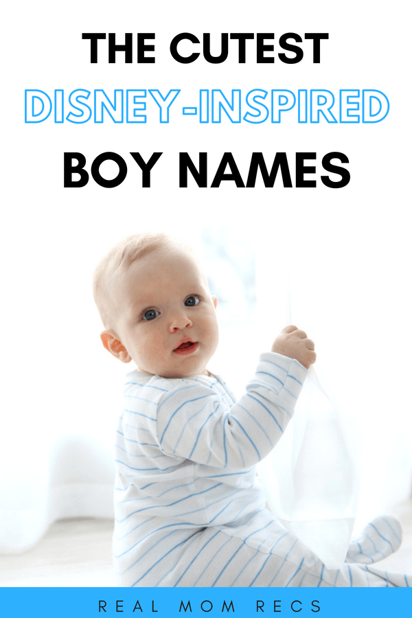 Disney boy names feature image with baby boy in blue