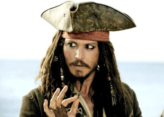 Johnny Depp as Disney's Jack Sparrow