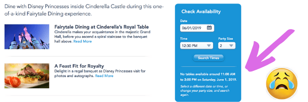 Do not wait to book your Disney dining reservations