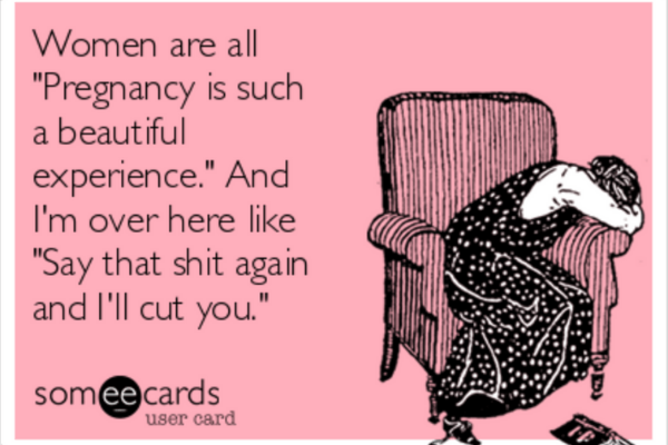 crazy pregnancy feelings meme
