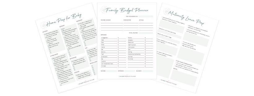 pregnancy planner baby prep sheets