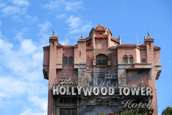 Twilight zone tower of terror ride at Disney's Hollywood studios