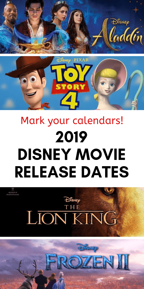 2019 Disney movie release dates
