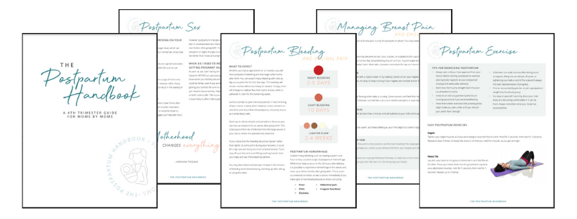 The postpartum handbook sample pages
