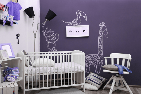 saturated color nurseries are one of the top pregnancy trends for 2020