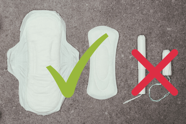 pads not tampons during postpartum six week recovery